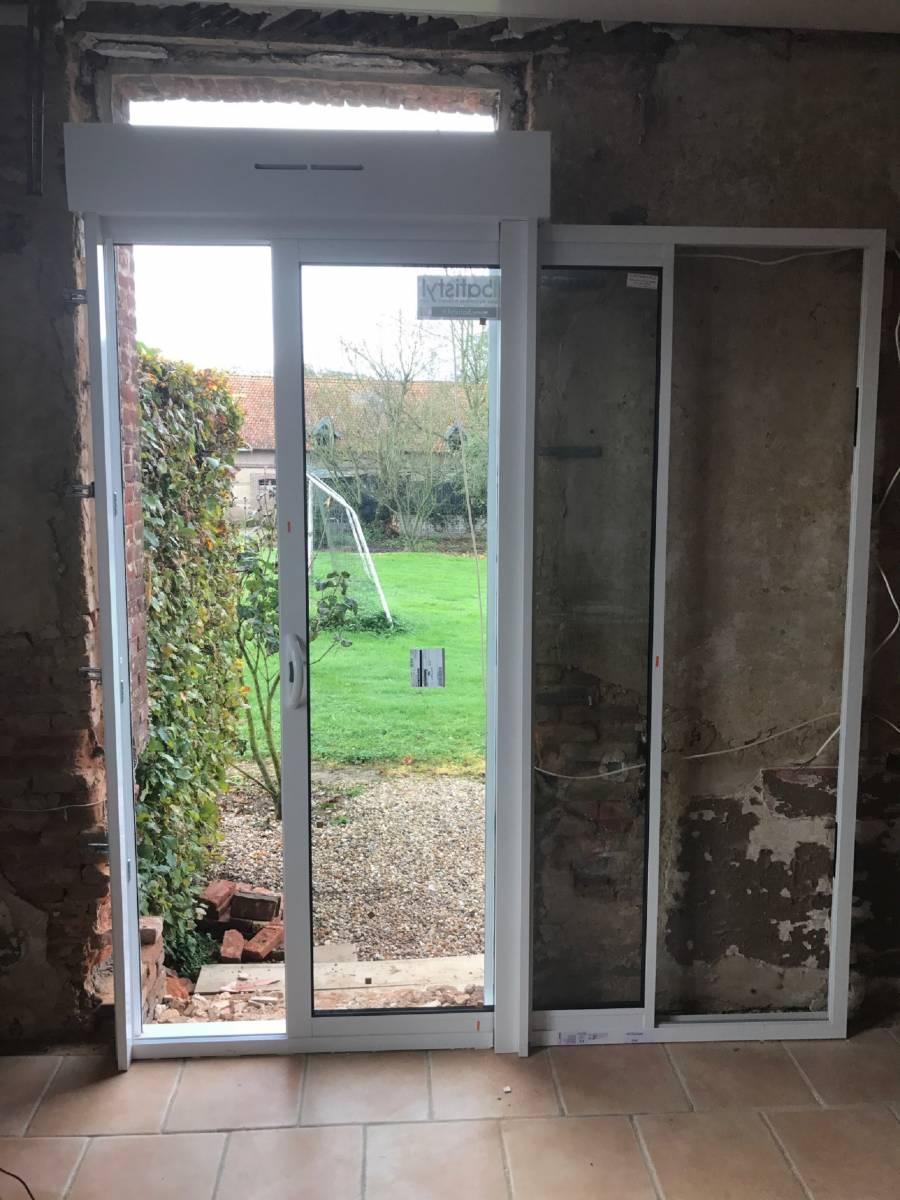 Vente Et Installation Dune Fenêtre à Galandage En Alu Avec Volets